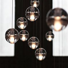 Injuicy Lighting Modern Magic Clear Crystal Ball Pendant Lamp Shade BOCCI G4 Led Edison Ceiling Lights for Bedroom Flush Living Room Decoration 220V (7 Head): Amazon.co.uk: Kitchen & Home