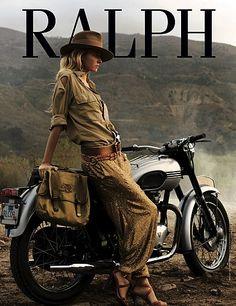 by Valentina Zelyaeva for Ralph Lauren [motorcycle]