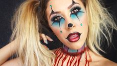 CREEPY CLOWN MAKEUP TUTORIAL! | Vicky Alvarez