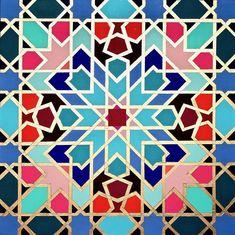 Geometric Painting, Geometric Art, Abstract Art, Geometric Patterns, Islamic Art Pattern, Pattern Art, Painting & Drawing, Gouache Painting, Motifs Islamiques