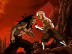 epic! I thought the way aang grabbed his beard and just bitch-slapped his hand away was hilarious!! :p