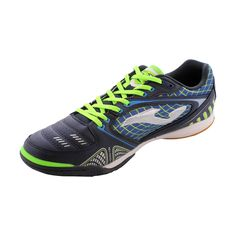 Joma - Women s Liga Sneakers - Navy Neon Green White Sneaker Stores 983ec775f69af