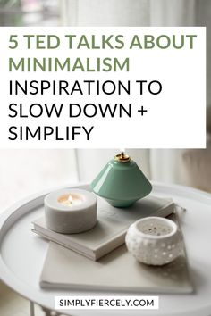 Here is a curated list of TED Talks about minimalism, that will inspire you to slow down and simplify your life. A great watch list for anyone interested in simple living. Minimal Living, Simple Living, Inspirational Ted Talks, Keep Life Simple, Declutter Your Mind, Minimalist Lifestyle, Slow Living, Sustainable Living, Minimalism
