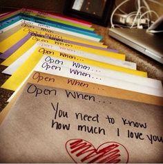 Open when...