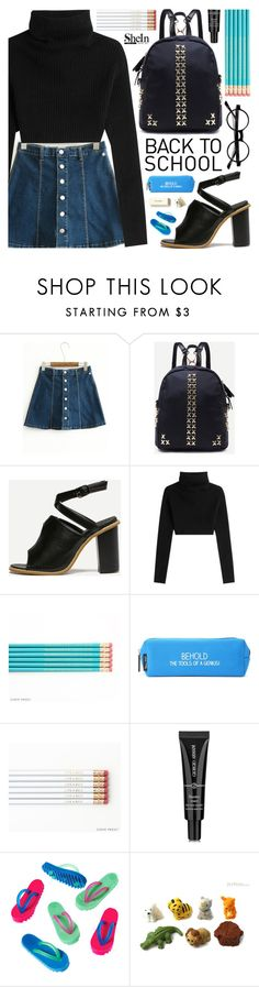 """Back to school with Shein"" by pastelneon ❤ liked on Polyvore featuring Valentino, Happy Jackson, Armani Beauty and Kate Spade"