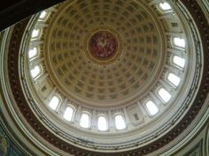 Interior dome - Wisconsin State Capital My Dream Home, Wisconsin, Mirror, Architecture, Interior, Home Decor, Indoor, My Dream House, Design Interiors