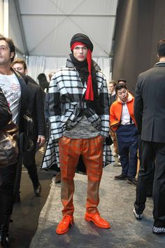 Backstage at AW13/14 MAN Show.     Ph. Daniele Fragale