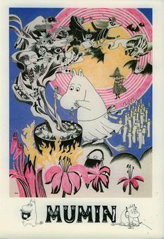 """""""Mumin: Das Mumintal"""", Art Museum Tampere, catalog Tampere, Finland Softcover, cover (c) Tove Jansson Tove Jansson, Illustration Book, Les Moomins, Oui Ou Non, Ghibli, Art Inspo, Illustrations Posters, Art Museum, Childrens Books"""