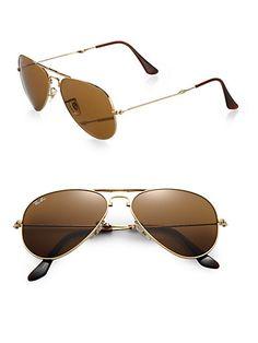 From Shop the Video: Inside Tamara Mellon's Closet  Ray-Ban folding aviator sunglasses, $195