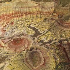 Aerial of the Painted Hills, John Day Fossil Beds National Monument, Oregon Badlands National Park, National Parks, Puerto Rico, Painted Hills, Wyoming, Belleza Natural, Aerial Photography, Landscape Photography, Natural Wonders