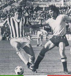 Juventus - Palermo  Gianpietro Marchetti e Ignazio Arcoleo in contrasto ... ⚽️ C'ero anch'io ... http://www.tepasport.it/ 🇮🇹 Made in Italy dal 1952