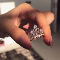 such a pretty princess ring Cute Jewelry, Jewelry Rings, Jewelery, Jewelry Accessories, Silver Jewelry, Jewellery Bracelets, Yoga Jewelry, Gold Jewellery, Indian Jewelry