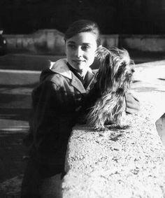 Audrey Hepburn & a Yorkie