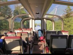 That's symmetry: View at the trip from Anchorage to Seward through the panorama deck in the morning sun