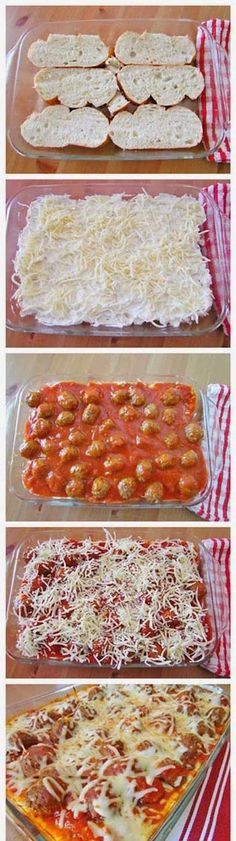Meatball Sub Casserole- (I would just make my own meatballs)