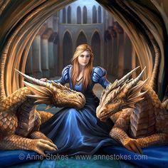 "dragonspiritblog: "" fantasyartfinds: "" Art by: Anne Stokes "" Beautiful art by: Anne Stokes For more fantasy art finds visit: https://fantasyartfinds.tumblr.com/ """