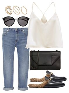 """""""Untitled #3445"""" by bubbles-wardrobe ❤ liked on Polyvore featuring Acne Studios, Gucci, Yves Saint Laurent and ASOS"""
