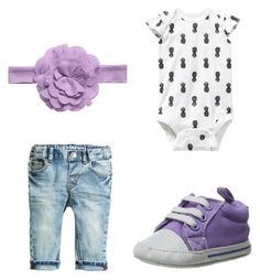 """""""Purple Shoes"""" by babiesswardrobe ❤ liked on Polyvore featuring Luvable Friends and Old Navy"""