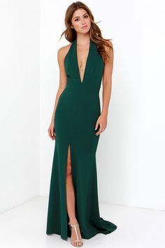 Pin for Later: The Most Outrageous Celebrity Costume Ideas For Halloween  LuLu*s Green Halter Maxi Dress ($112)