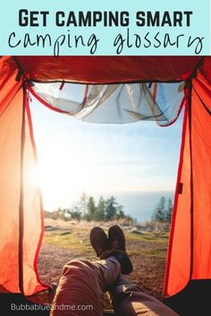 New to camping and don't know your camping equipment and phrases you hear? Then this ultimate guide to camping terms means you'll know your tents from your camping food inside out before you go.  #camping #glossary #staycation #tents