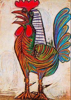 """Pablo Picasso """"Il gallo"""" 1938"""