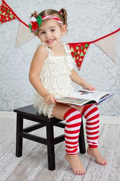 Childrens Headband and Leg warmers by Sassy Sweethearts Boutique. Christmas Holiday Photoshoot, Visit www.besassy.us find us on Facebook. www.facebook.com/sassysweetheartsboutique