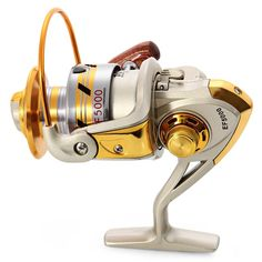 2016 High Quality EF1000-7000 Spinning Fishing Reels Fly Wheel 10BB 5.2:1 Metal Spinning Fishing Reels Fishing Accessories Tool