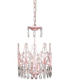 Pink Crown Chandelier | Daily deals for moms, babies and kids