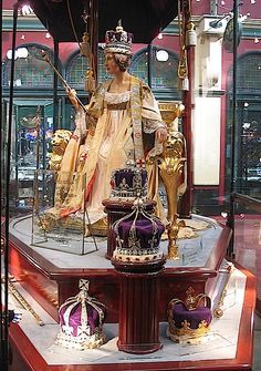 Queen Victoria's Coronation Dress and Robe, along with her Crowns ~ on display from Sydney, Australia in 2010
