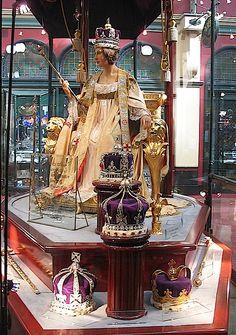 Queen Victoria Coronation robes display