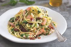 Linguine With Scampi And Garlic Butter