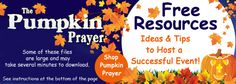 Pumpkin Prayer-Free Downloadable Fillable Resources for Christian Fall Festivals and Trunk or Treats