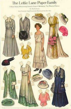 1920 paper doll