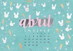 calendario abril: imprimible y fondo | milowcostblog