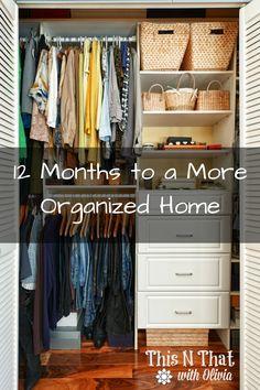 12 Months to a More Organized Home + FREE Checklist!  via @odouglass
