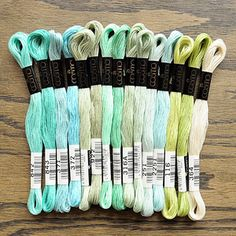 cosmo embroidery floss. atlantic