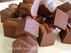 The Sisters Dish: Simple 3-ingredient fudge