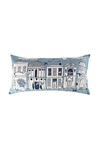 MICHAEL CHANDLER ILLUSTRATED HOUSES 40X80CM SCATTER CUSHION
