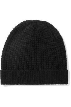 Madeleine Thompson - Holby Waffle-knit Cashmere Beanie - Black - One size