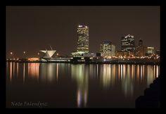 Milwaukee skyline and Lake Michigan