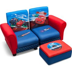 Disney - 3 Piece Upholstered Set Cars 2 Connecting Sofa Couches and Ottoman Set  sc 1 st  Pinterest & Delta Children Character Toddler Tent Bed - Cars | Toddler tent ...