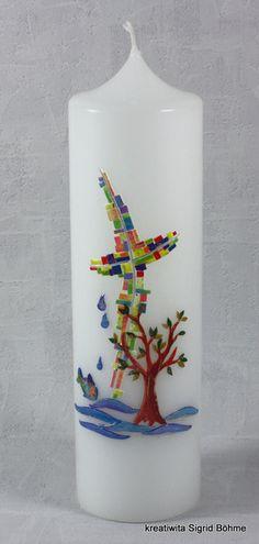 Taufkerze von Kreatiwita - Kerzen - Kunst auf DaWanda.com