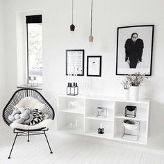 Find your favorite minimalist living room photos here. Living Room Photos, Living Room Decor, Bedroom Decor, Design Bedroom, Decoration Inspiration, Interior Inspiration, Room Decor For Teen Girls, Black And White Interior, Black White
