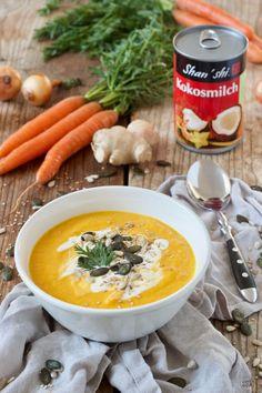 Schnelle Karotten Ingwer Kokos Suppe nach einem Rezept von Sweets & Lifestyle®