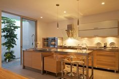mini mansions interior   ... house: Best Lighting Interior Kitchen With Glass Furniture In Mini Bar