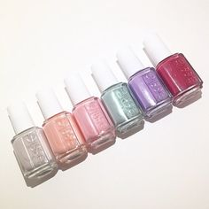 Introducing the essie Bridal Collection 'Mrs Always-Right'. These six beauties are absolutely stunning. From left to right: 'Between The Seats', Steal His Name', 'Coming Together', 'Passport To Happiness', Groom Service', and Mrs Always-Right'