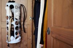smart use of space: RATIONELL VARIERA boxes from Ikea on the inside of wardrobe doors