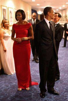 Michelle and Barack Obama.  Classy.