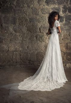 Regency Wedding Dress, Drop Waist Wedding Dress, Regency Dress, Pnina Tornai Dresses, Wedding Dress Trends, Wedding Gowns, Lace Wedding, Chantilly Lace, Bridal Dresses
