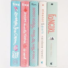 Pastel books are everything. Ya Books, Book Club Books, Book Nerd, Book Lists, Good Books, Eleanor And Park, Donia, Book Aesthetic, Books For Teens